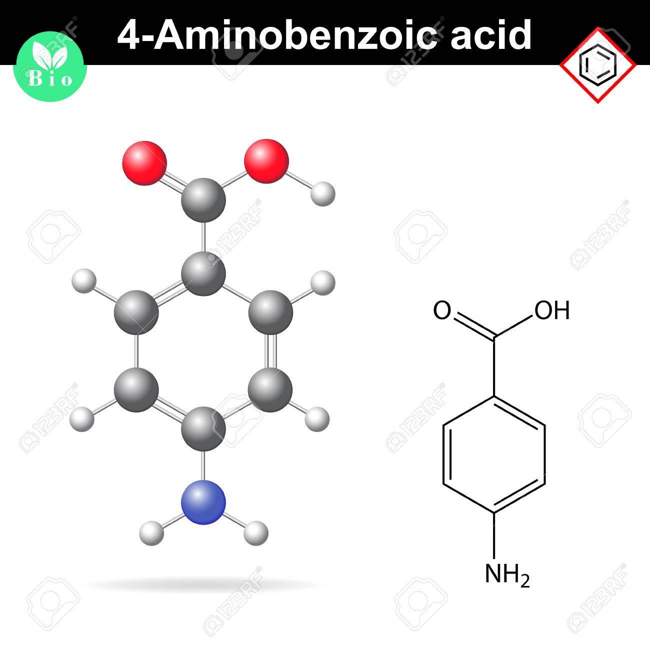 تصویر آمینو اسید بنزوئیک